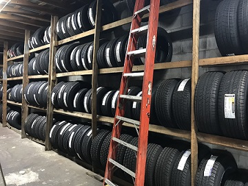 Tire inventory at Tire & Muffler USA